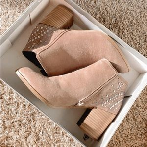 NWT - Fergie - Studded Brown Booties